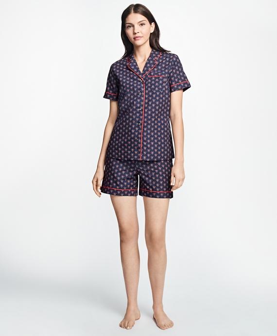 Floral Supima® Cotton Pajama Set Blue