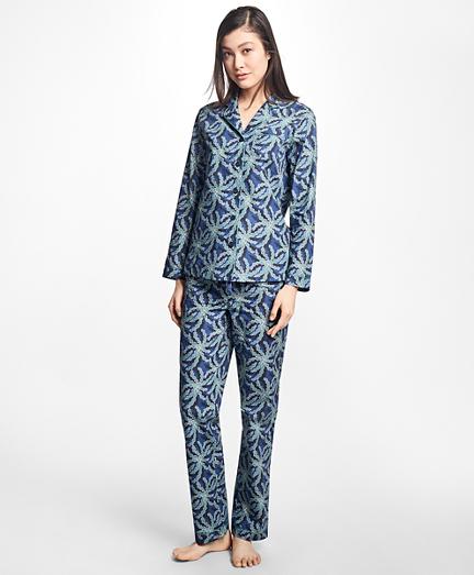 Palm Tree Print Supima® Cotton Pajama Set