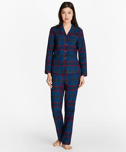 Tartan Cotton Flannel Pajama Set