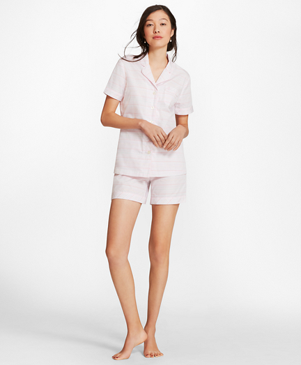 Striped Cotton Poplin Pajamas
