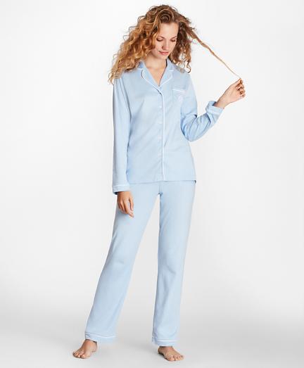 Logo-Embroidered Pima Cotton Interlock Jersey Pajama Set