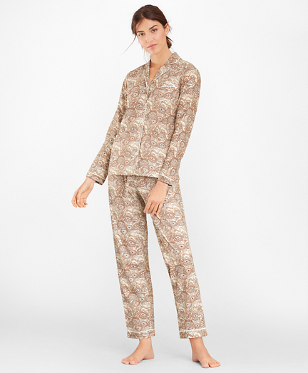 Floral-Print Supima® Cotton Poplin Pajama Set