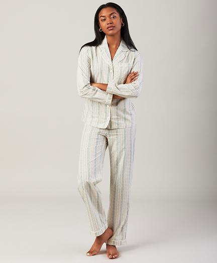 Floral-Print Cotton Poplin Pajama Set