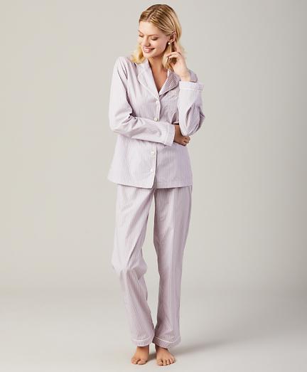 Striped Cotton Poplin Pajama Set