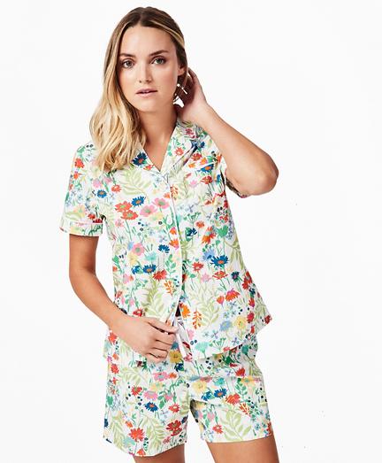 Floral-Print Supima® Cotton Poplin Pajama Set