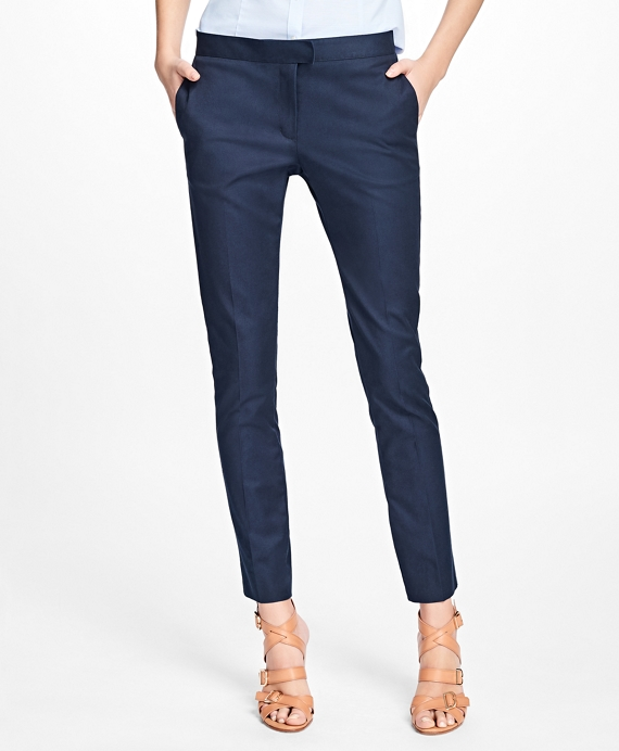 Flat-Front Stretch Advantage Chinos® Navy
