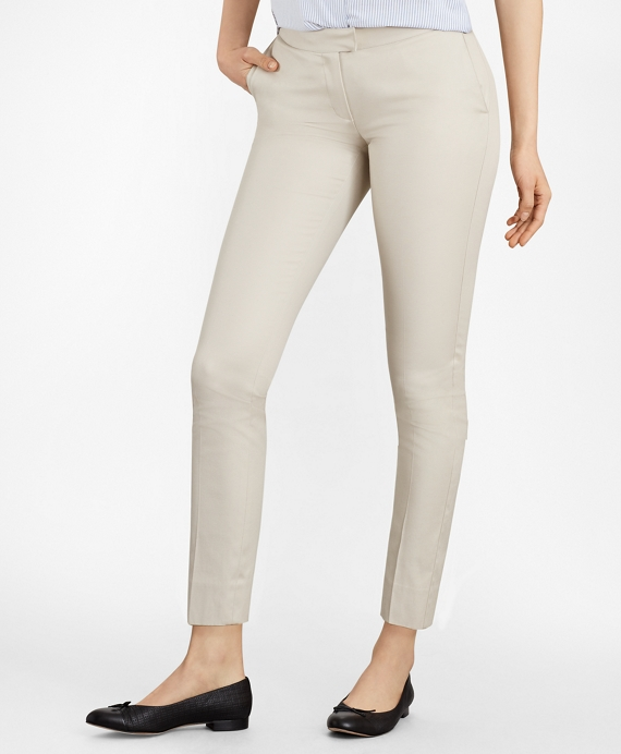 Flat-Front Stretch Advantage Chinos® Stone