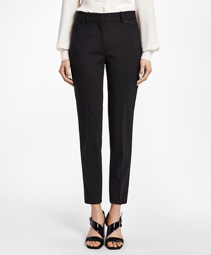 Slim-Fit Stretch Wool Tuxedo Pants