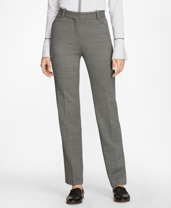 Double-Weave Stretch-Wool Pants Grey