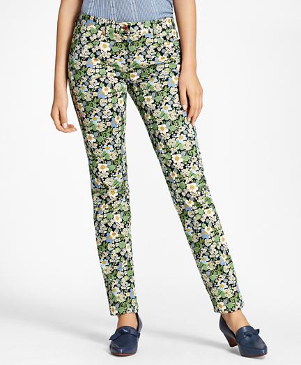 Slim-Fit Floral-Print Jeans