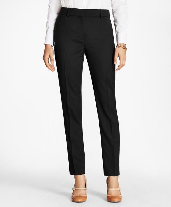 Stretch-Wool Double-Weave Pants
