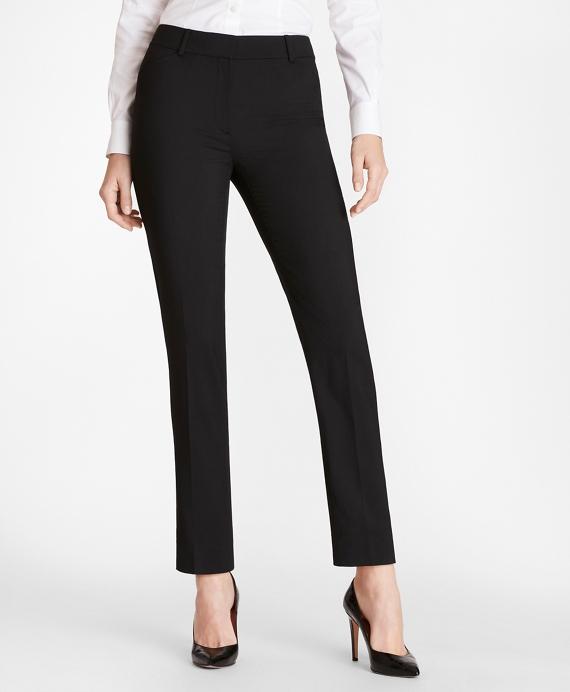 Slim-Fit Wool Pants Navy