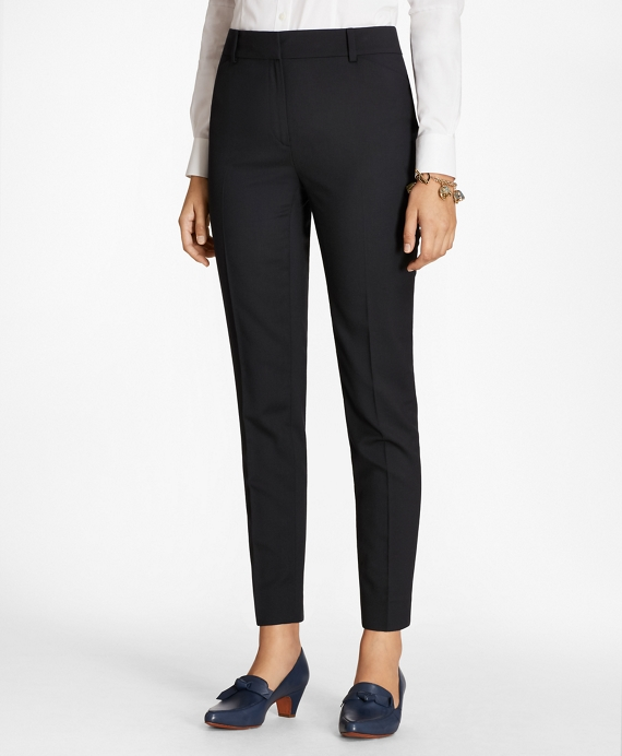 Slim-Fit Wool Pants Navy