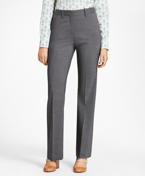 Melange Stretch-Wool Pants Grey