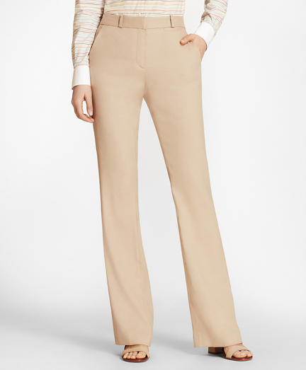 Stretch Linen-Blend Twill Pants