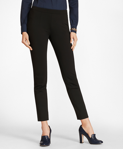 Ponte Knit Ankle Pants