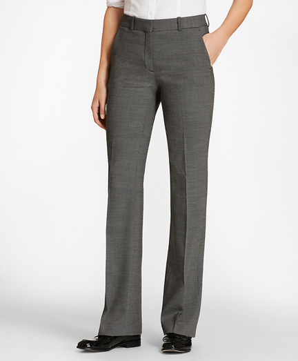 Bird's-Eye Stretch-Wool Pants