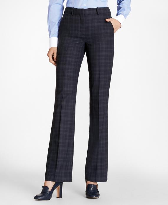 Plaid BrooksCool® Merino Wool Pants Navy