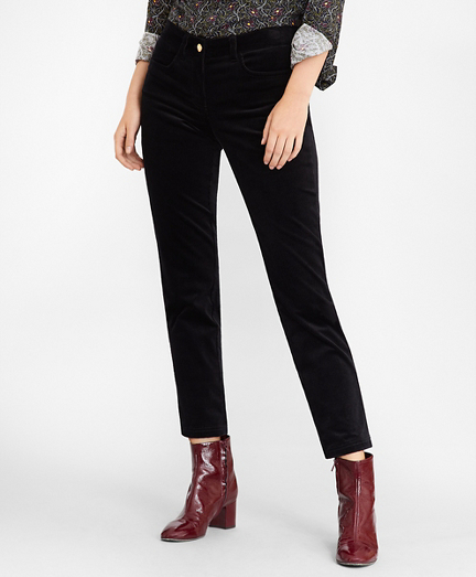 Stretch Cotton Corduroy Ankle Pants