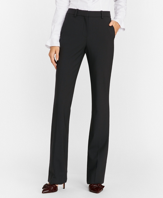 Stretch-Wool Crepe Tuxedo Pants Black