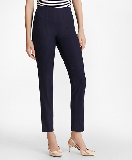 Pinstripe BrooksCool® Merino Wool Ankle Pants