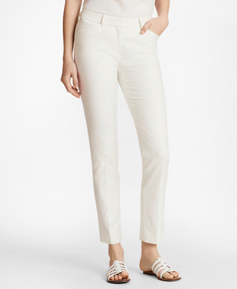 Stretch Cotton Dobby Slim-Fit Pants