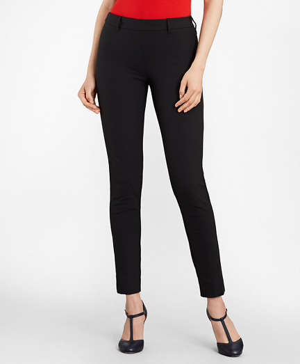 Slim-Fit Stretch-Cotton Twill Ankle Pants