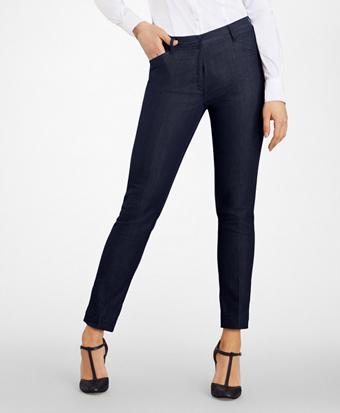 Slim-Fit Denim Pants