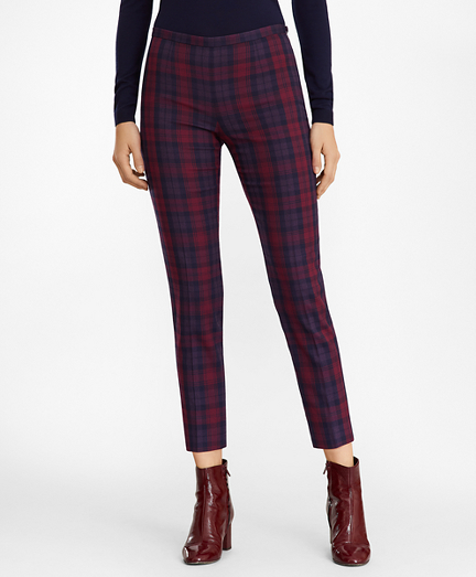 Slim-Fit Tartan Pants