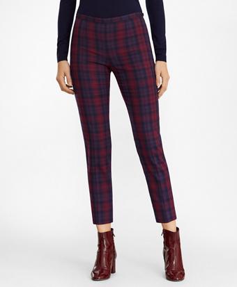 Slim-Fit Tartan Pants
