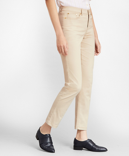 Stretch Supima® Cotton Five-Pocket Pants