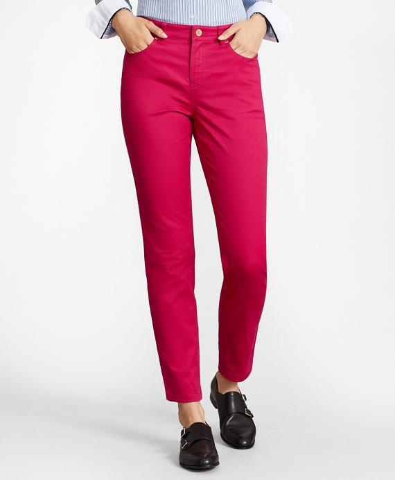 Stretch Supima® Cotton Five-Pocket Pants Pink