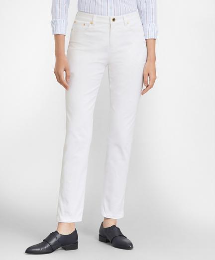 Stretch Supima® Cotton Five-Pocket Pants