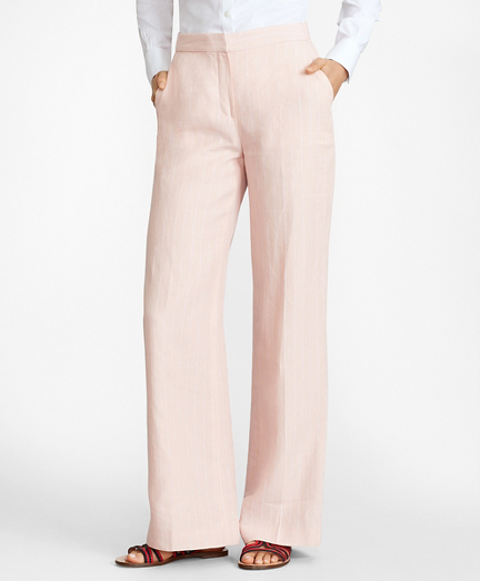Pinstriped Linen Pants