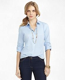 Non-Iron Fitted Three-Quarter Sleeve Dress Shirt