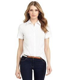 Non-Iron Tailored Fit Short-Sleeve Dress Shirt