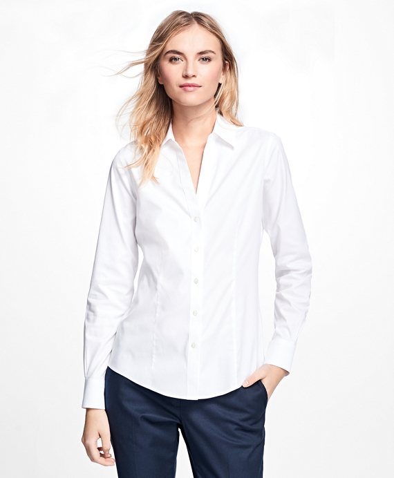 Non-Iron Fitted Dress Shirt White