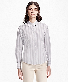 Fitted Striped Non-Iron Dress Shirt