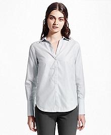 Non-Iron Cotton Dobby Tunic Shirt