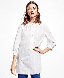 Three-Quarter-Sleeve Cotton Tunic