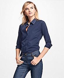 Non-Iron Fitted Cotton Poplin Dress Shirt