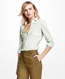 Striped Stretch-Cotton-Blend Dress Shirt