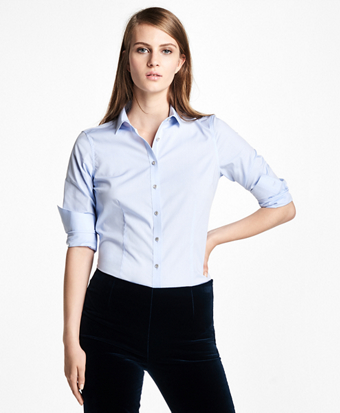 Tailored-Fit Stretch-Cotton-Poplin Dress Shirt