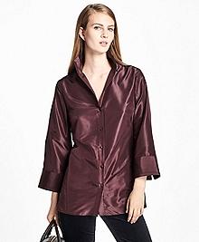 Three-Quarter-Sleeve Silk Taffeta Tunic