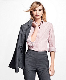 Striped Cotton Dobby Shirt