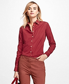 Fitted Non-Iron Cotton Poplin Dress Shirt