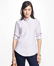 Classic-Fit Supima® Cotton Oxford Stripe Button-Down Shirt