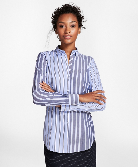 cb46897174 Non-Iron Tailored-Fit Striped Stretch-Cotton Fun Shirt - Brooks Brothers