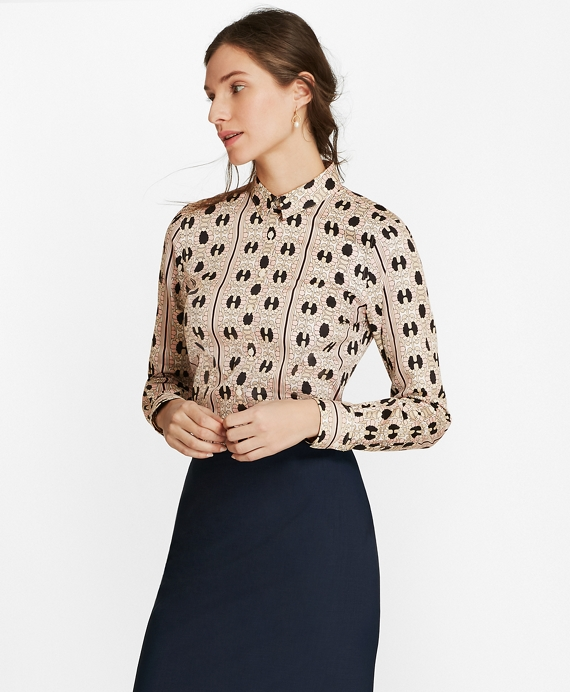 Daisy-Print Cotton Sateen Fitted Shirt