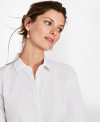 Bengal Stripe Cotton Fitted Shirt